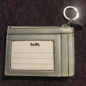 Coach keychain ID holder
